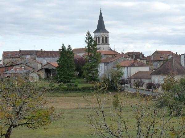 Commune de Négrondes, vue aérienne